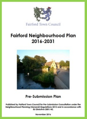 The Pre-submission Fairford Neighbourhood Plan 2016 – 2031